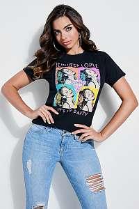 Guess farebné dámske tričko JLO PopArt