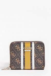 Guess hnedé malá peňaženka Jensen 4G Logo Wallet