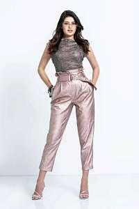 Guess metalické púdrové nohavice s vysokým pásom