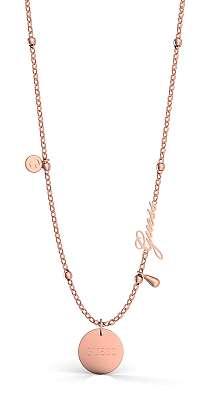 Guess rose gold náhrdelník Peony Art