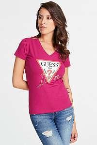 Guess ružové dámske tričko Pink Icon s logom