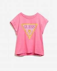 Guess ružové detské tričko