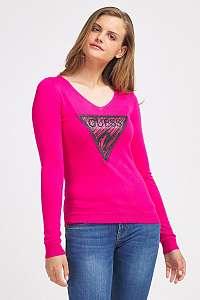 Guess ružové sveter Triangle Logo