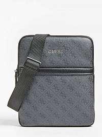 Guess sivé pánska taška Vezzola 4G logo
