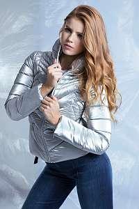 Guess strieborné zimné bunda Foil Nylon Jacket
