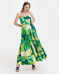Guess zelené kvetované šaty Angelica