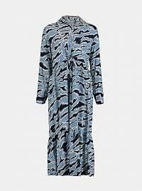 Hailys modré vzorované šaty