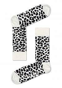 Happy Socks čierno-biele dámske ponožky Leopard