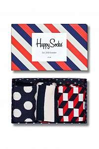 Happy Socks darčekový ponožiek Classic Stripe Gift Box