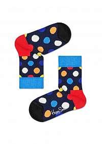 Happy Socks farebné chlapčenské ponožky Big Dot Sock s bodkami