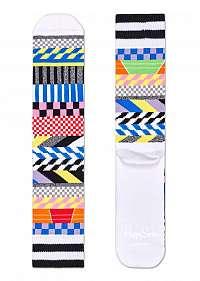Happy Socks farebné ponožky Athletic Checked Stripe