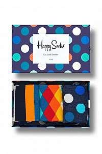 Happy Socks farebný darčekový set ponožiek Classic Mix Gift Box