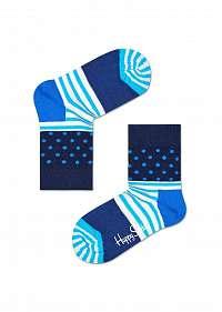 Happy Socks modré detské ponožky Stripe Dot