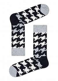 Happy Socks vzorované ponožky s kohúťou stopou Dogtooth