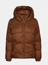 Hnedá prešívaná zimná bunda VERO MODA Upsala