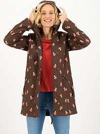 Hnedá vzorovaná vodeodolná softshellová bunda Blutsgeschwister