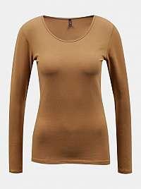 Hnedé basic tričko ONLY