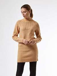 Hnedé dámske svetrové šaty Dorothy Perkins