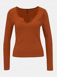 Hnedé tričko ONLY Lelina