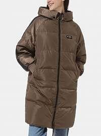 Hnedý dámsky zimný prešívaný kabát VANS