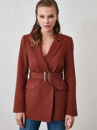 Hnedý kabát Trendyol