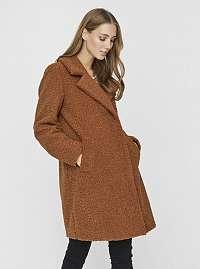 Hnedý kabát VERO MODA Lucinda