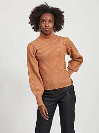 Hnedý sveter so stojačikom .OBJECT
