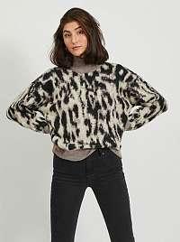 Hnedý vzorovaný sveter .OBJECT