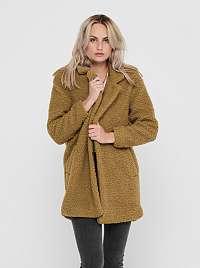 Hnedý zimný kabát ONLY