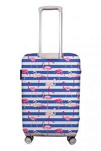 Home farebný obal na batožinu Butter Kings Floating Flamingos