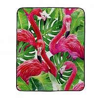 Home farebná skládacia pikniková deka Butter Kings Dark Flamingos