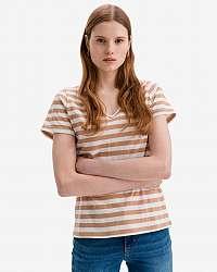 Ichi béžové dámske tričko Yulietta