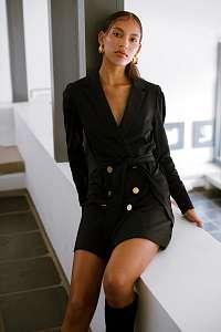 Ichi čierne šaty Ihkate Trend
