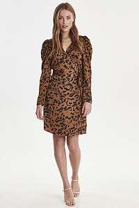 Ichi hnedé šaty Ixmette Wrap