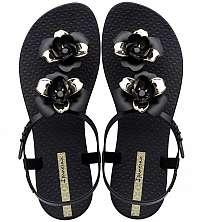 Ipanema čierne sandále Floral Sandal Fem Black/Gold -