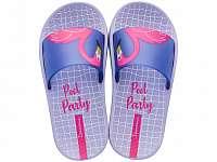 Ipanema fialové dievčenské šľapky Urban Slide Kids Violet/Blue -
