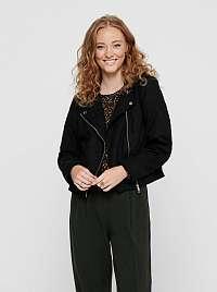 Jacqueline de Yong čierna koženková bunda