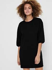 Jacqueline de Yong čierne mikinové šaty Napa