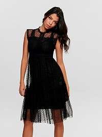 Jacqueline de Yong čierne šaty Line s čipkou