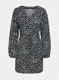 Jacqueline de Yong čierne šaty so vzormi