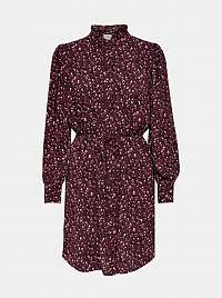 Jacqueline de Yong fialové košeľové šaty so vzormi