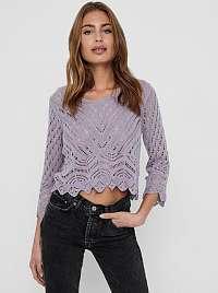 Jacqueline de Yong fialový krátky sveter