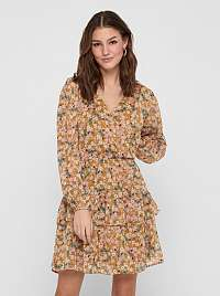 Jacqueline de Yong hnedé kvetované šaty