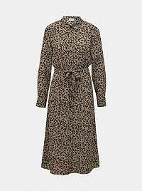 Jacqueline de Yong hnedé midi košeľové šaty