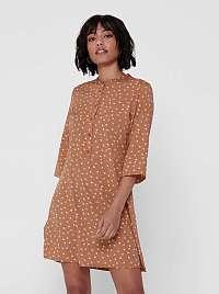 Jacqueline de Yong hnedé šaty Ora so vzormi
