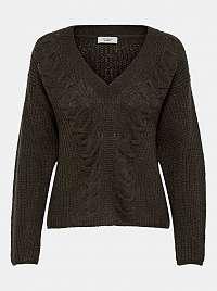 Jacqueline de Yong khaki dámsky sveter