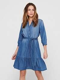 Jacqueline de Yong modré košeľové džínsové šaty Sille