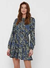 Jacqueline de Yong modré kvetované šaty
