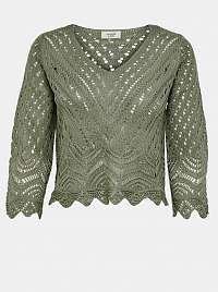 Jacqueline de Yong zelené cropped sveter