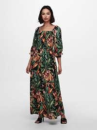 Jacqueline de Yong zelené maxi šaty Mina so vzormi